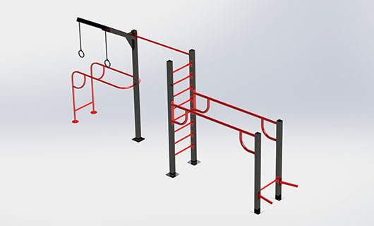 "<span lang =""bg"">OF0007-1 Pull up bar, swedish ladder, parallel bars</span>"
