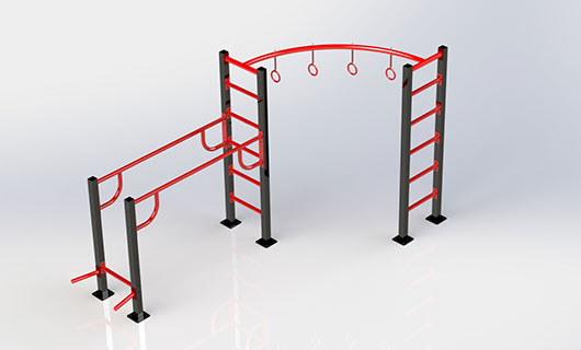 "<span lang =""bg"">OF0007 Pull up bar, swedish ladder, parallel bars</span>"