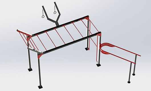"<span lang =""bg"">OF0017-1 Multifunctional street workout equipment</span>"