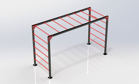 "<span lang =""bg"">OF0017-2 Multifunctional street workout Inshape horizontal ladder</span>"